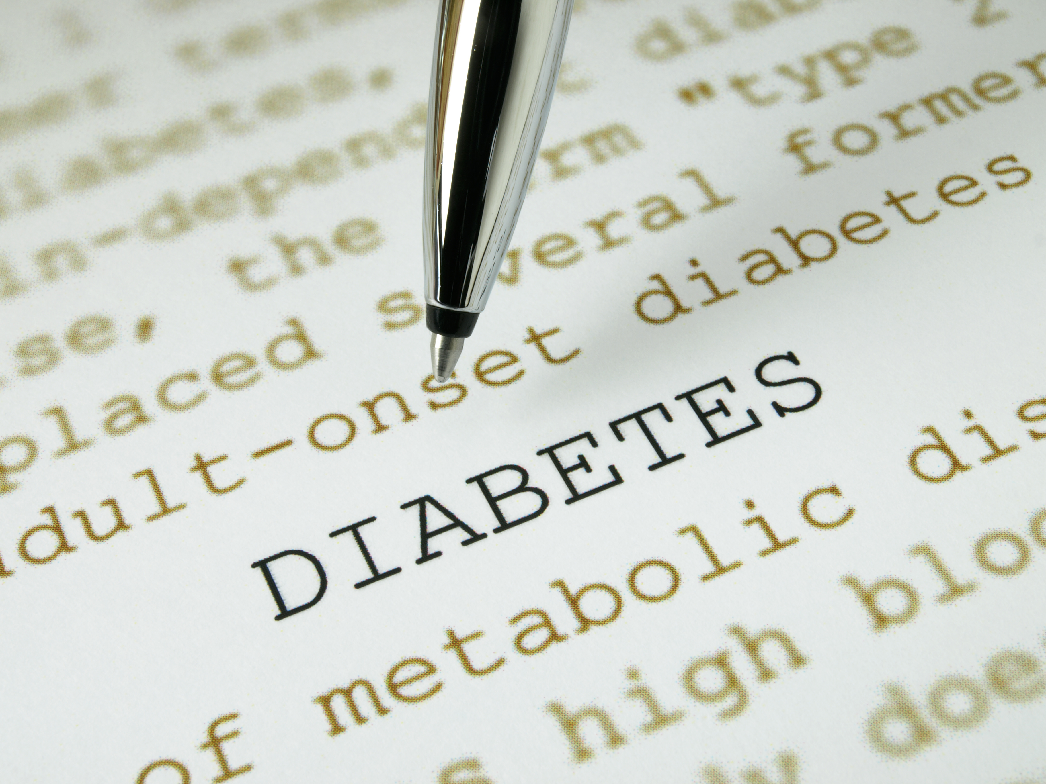 Pointing by diabetes