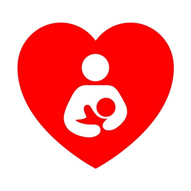 Icono corazon simbolo lactancia