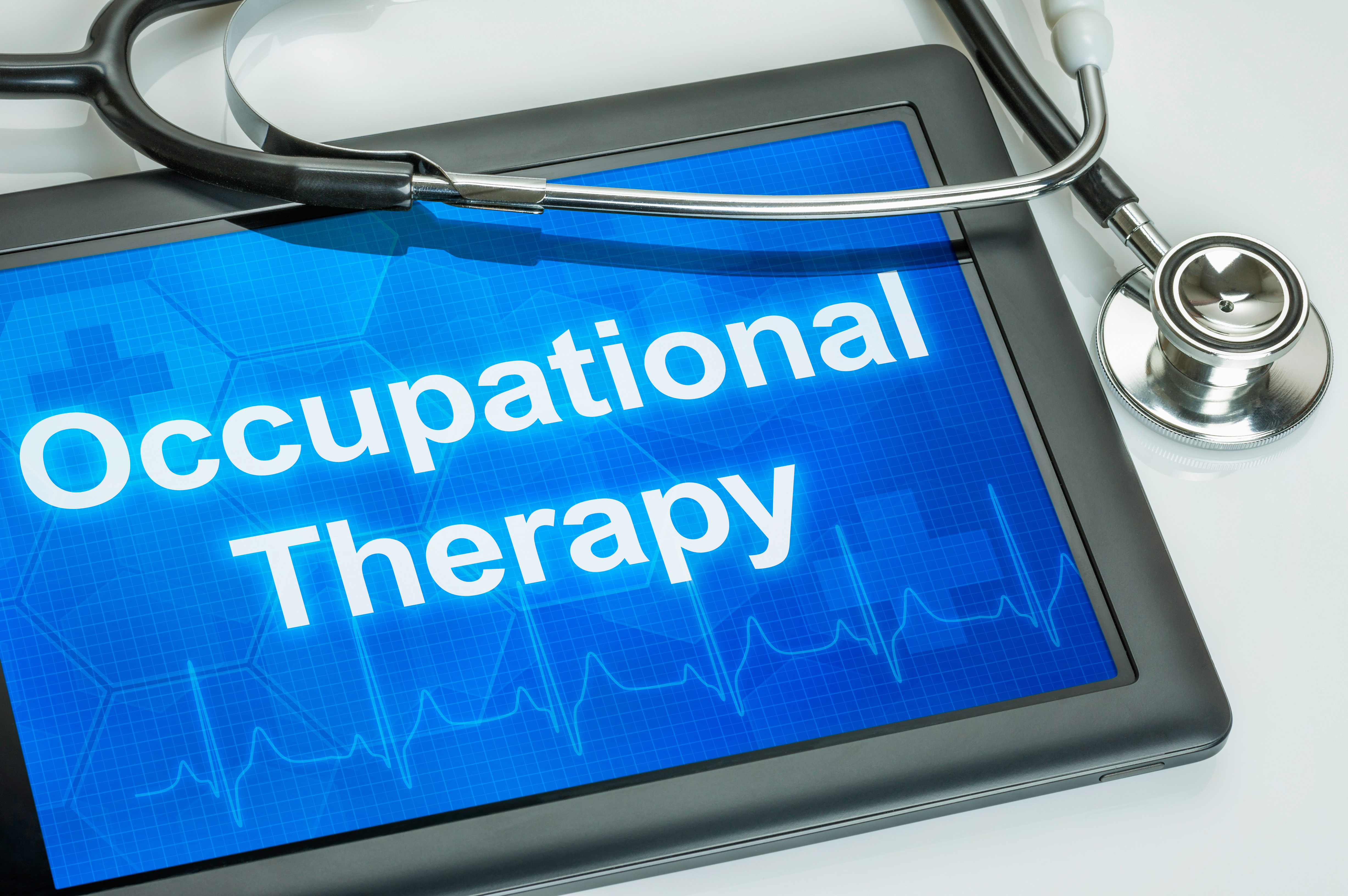 Tablet with the text Occupational Therapy on thedisplay